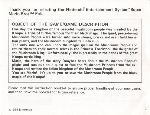 super_mario_bros_instruction_manual_story