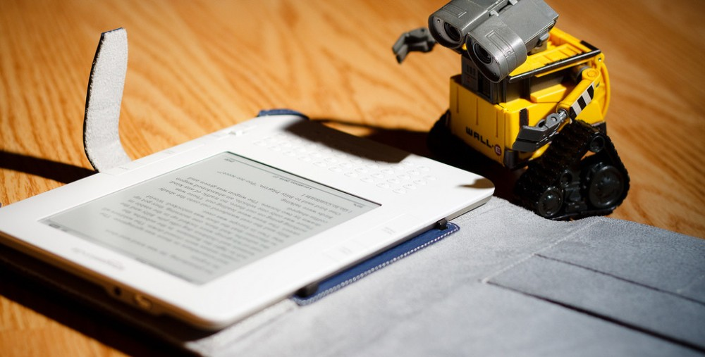 I guess it makes sense for a robot to read an e-book[401]